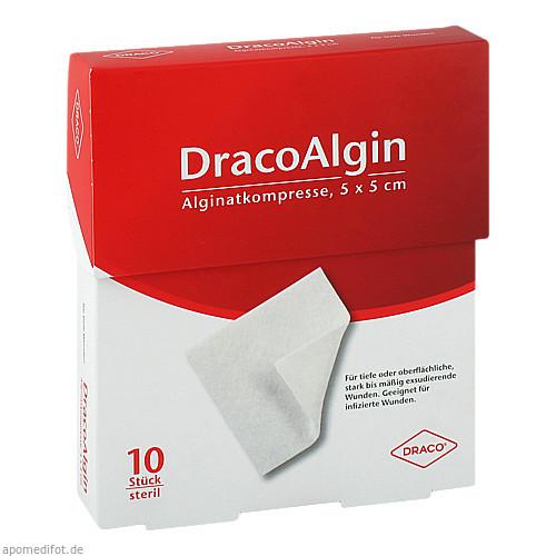 DracoAlgin Alginatkompresse 5x5 cm, 10 ST, Dr. Ausbüttel & Co. GmbH