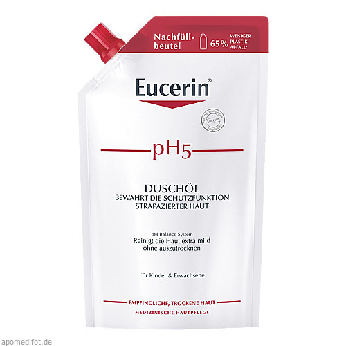 Eucerin pH5 Duschöl Nachfüll Empfindliche Haut, 400 ML, Beiersdorf AG Eucerin