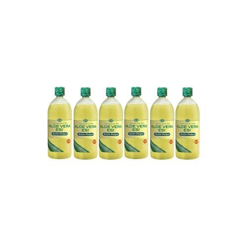 Aloe-Vera-Saft natur mit Fruchtfleisch, 6X1 L, Groß GmbH