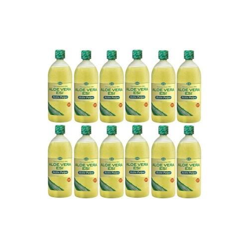 Aloe-Vera-Saft natur mit Fruchtfleisch, 12X1 L, Groß GmbH