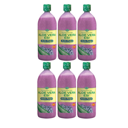 Aloe-Vera-Saft natur Heidelbeer Fruchtfleisch, 6X1 L, Groß GmbH