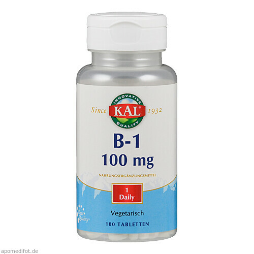 Vitamin B 1 Thiamin 100 mg, 100 ST, Supplementa Corporation B.V.