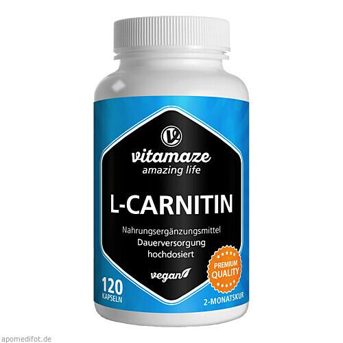 L-Carnitin 680 mg vegan, 120 ST, Vitamaze GmbH