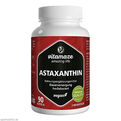 Astaxanthin 4 mg vegan, 90 ST, Vitamaze GmbH