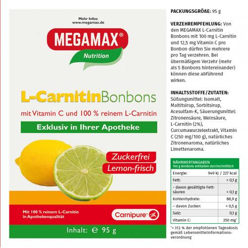 L-Carnitin Bonbons Megamax, 95 G, Megamax B.V.