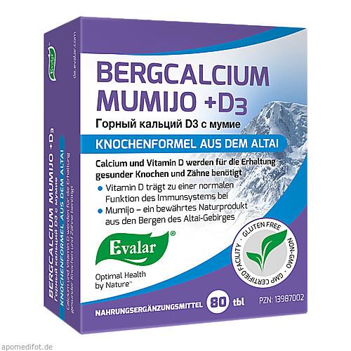 BERGCALCIUM MUMIJO +D3, 80 ST, Evalar s.r.o.