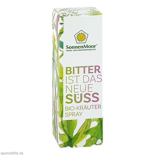 Bio-Kräuterspray Bitter ist das neue Süss, 20 ML, SONNENMOOR Verwertungs- u. Vertriebs GmbH