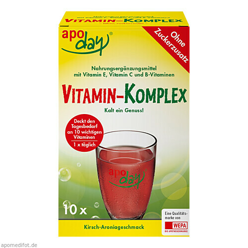 APODAY Vitamin-Komplex Kirsch-Aronia o.Zz Pulver, 10X5 G, WEPA Apothekenbedarf GmbH & Co KG