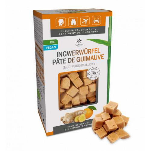 Ingwer GINJER Ingwerwürfel Orange, 60 G, Lemon Pharma GmbH & Co. KG