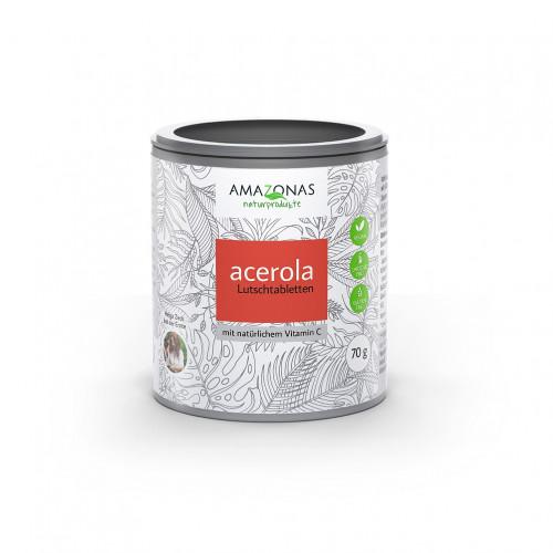 Acerola Lutschtabletten ohne Zuckerzusatz, 70 G, Amazonas Naturprodukte Handels GmbH