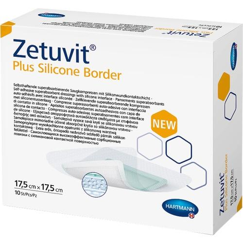 Zetuvit Plus Silicone Border 17.5 cm x 17.5 cm, 10 ST, Paul Hartmann AG