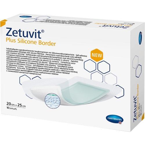Zetuvit Plus Silicone Border 20 cm x 25 cm, 10 ST, Paul Hartmann AG