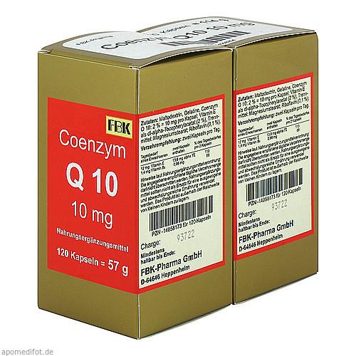 Coenzym Q10 10 mg Kapseln, 240 ST, Fbk-Pharma GmbH