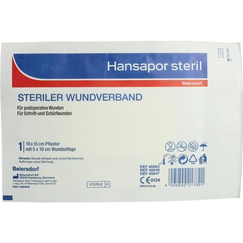 Hansapor steril 10x15 cm Einzelpflaster, 1 ST, Beiersdorf AG