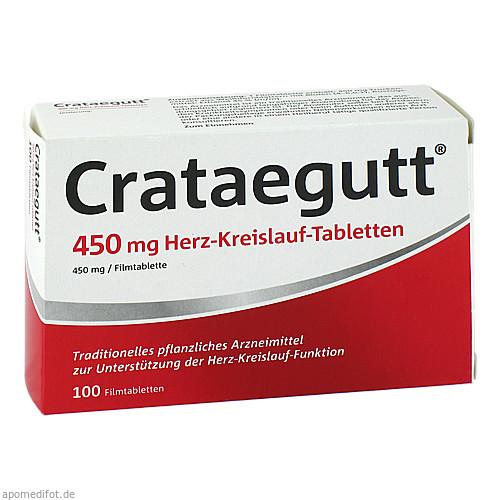 Crataegutt 450 mg Herz-Kreislauf-Tabletten, 100 ST, Dr.Willmar Schwabe GmbH & Co. KG