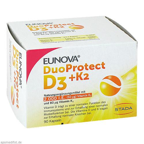EUNOVA DuoProtect D3+K2 2000IE/80UG, 90 ST, STADA Consumer Health Deutschland GmbH