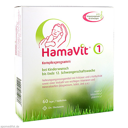 HamaVit 1 Kinderwunsch und Schwangerschaft, 60 ST, Dr. Hamann GmbH