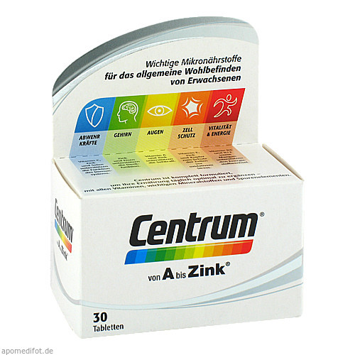 Centrum A bis Zink, 30 ST, Pfizer Consumer Healthcare GmbH
