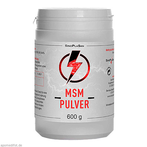 MSM Pulver Pur 99.9% Methylsulfonylmethan, 600 G, Sinoplasan AG
