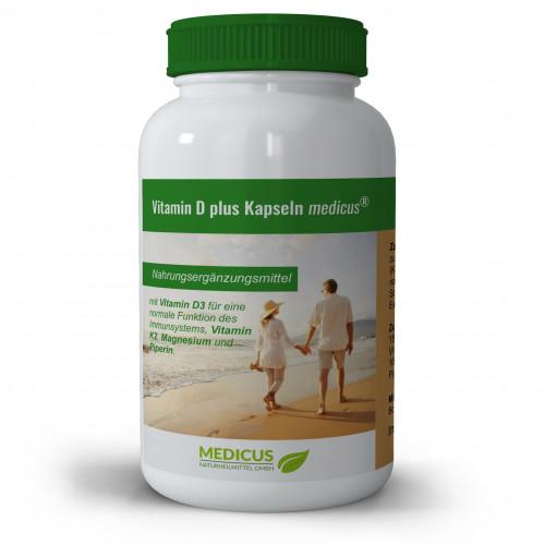 Vitamin D plus Kapseln medicus, 90 ST, Dr. Fleckenstein GmbH