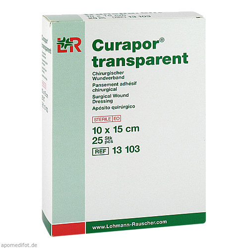 CURAPOR Wundverband steril transparent 10x15 cm, 25 ST, B2b Medical GmbH