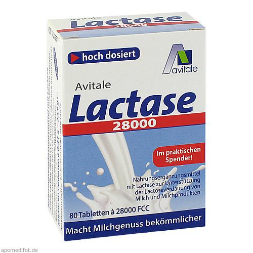 Lactase 28000 FCC Tabletten im Spender, 80 ST, Avitale GmbH