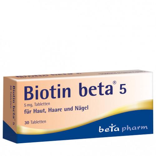 Biotin beta 5 Tabletten, 30 ST, betapharm Arzneimittel GmbH