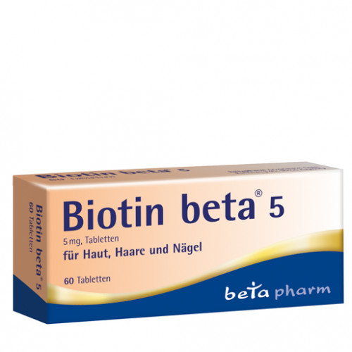 Biotin beta 5 Tabletten, 60 ST, betapharm Arzneimittel GmbH