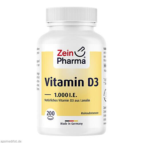 Vitamin D3 1.000 IE Softgel ZeinPharma, 200 ST, Zein Pharma - Germany GmbH