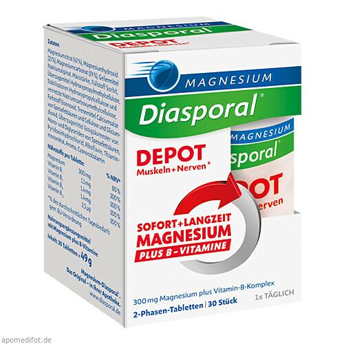 Magnesium-Diasporal DEPOT Muskeln + Nerven, 30 ST, Protina Pharmazeutische GmbH