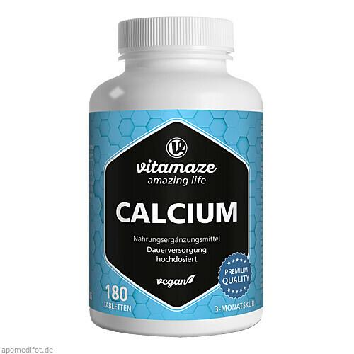 Calcium 400 mg vegan, 180 ST, Vitamaze GmbH