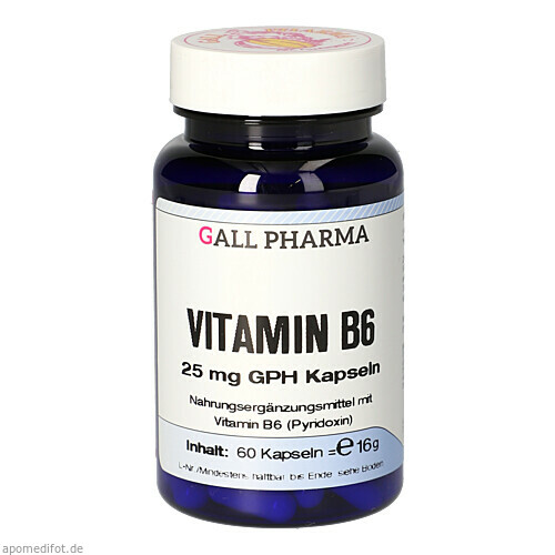 VITAMIN B6 25MG GPH KAPSELN, 60 ST, Hecht-Pharma GmbH
