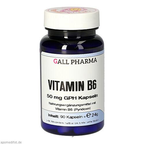VITAMIN B6 50MG GPH KAPSELN, 90 ST, Hecht-Pharma GmbH