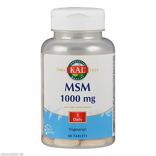 MSM 1000 mg, 80 ST, Supplementa Corporation B.V.
