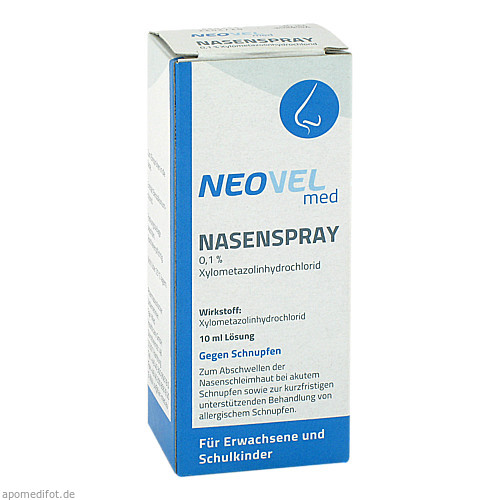 Neovel med Nasenspray 0.1%, 10 ML, Fairmed Healthcare GmbH