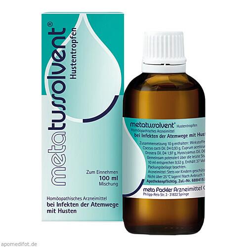 metatussolvent Hustentropfen, 100 ML, Meta Fackler Arzneimittel GmbH