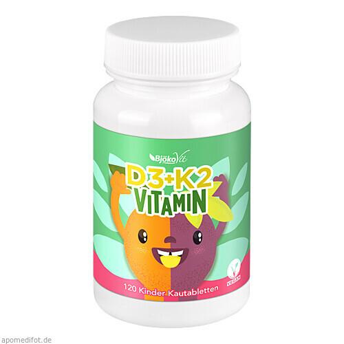 Vitamin D3 + K2 Kinder Kautabletten vegan, 120 ST, BjökoVit
