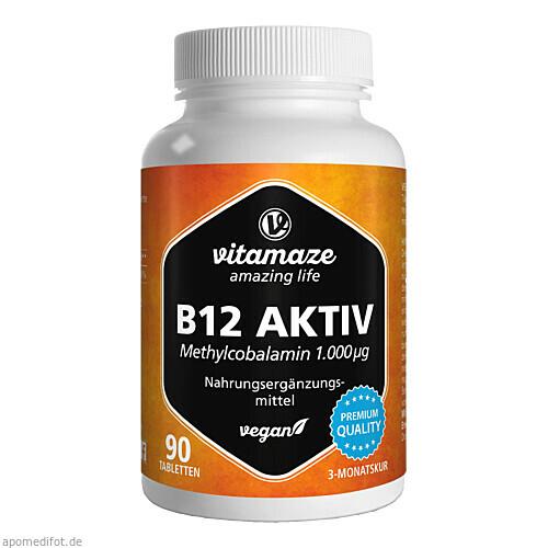 B12 Aktiv 1000 ug vegan, 90 ST, Vitamaze GmbH
