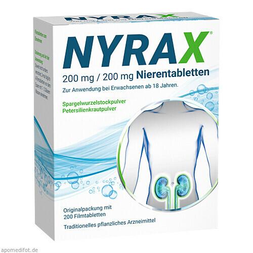 Nyrax 200 mg / 200 mg Nierentabletten, 200 ST, Heilpflanzenwohl GmbH