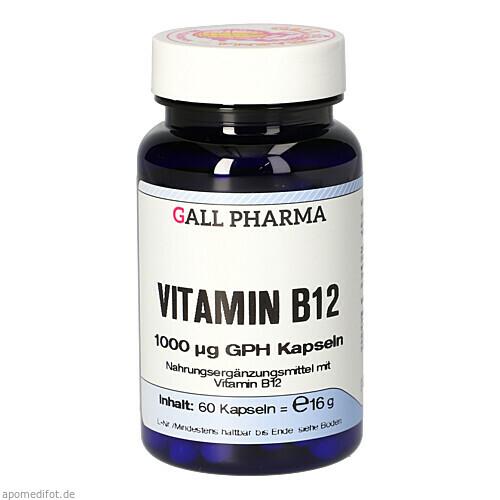 VITAMIN B12 1000MCG GPH KAPSELN, 60 ST, Hecht-Pharma GmbH