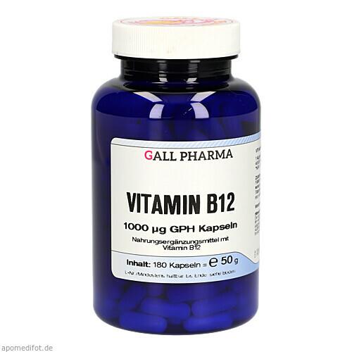 VITAMIN B12 1000MCG GPH KAPSELN, 180 ST, Hecht-Pharma GmbH