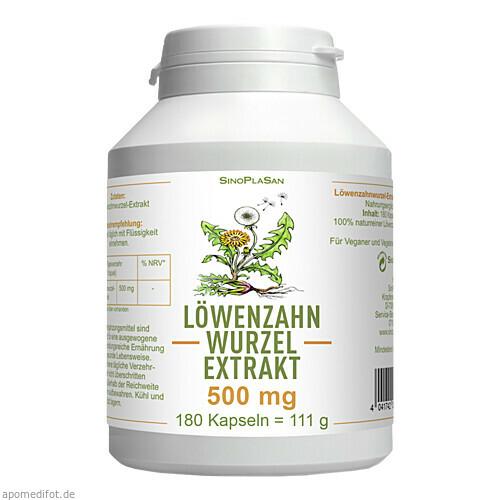 Löwenzahnwurzel-Extrakt 500 mg Mono, 180 ST, Sinoplasan AG