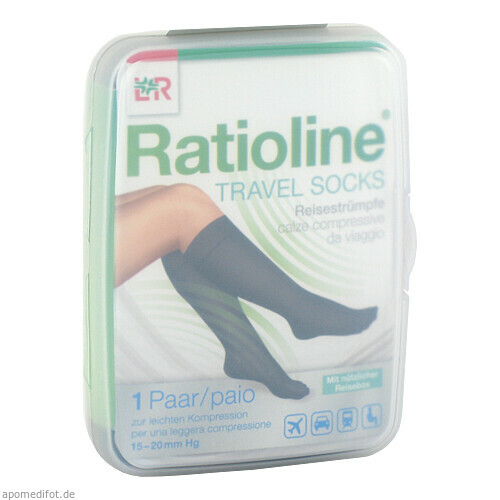 Ratioline Travel Socks Gr. 36-40, 2 ST, Lohmann & Rauscher GmbH & Co. KG