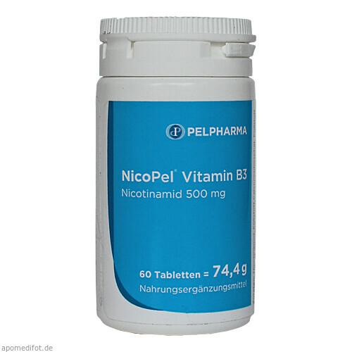 NicoPel Nicotinamid 500mg, 60 ST, Derma Enzinger GmbH