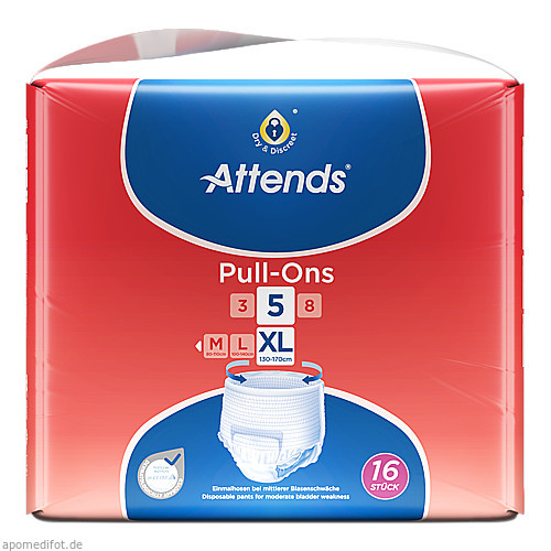 Attends Pull-Ons 5 XL, 16 ST, Attends GmbH
