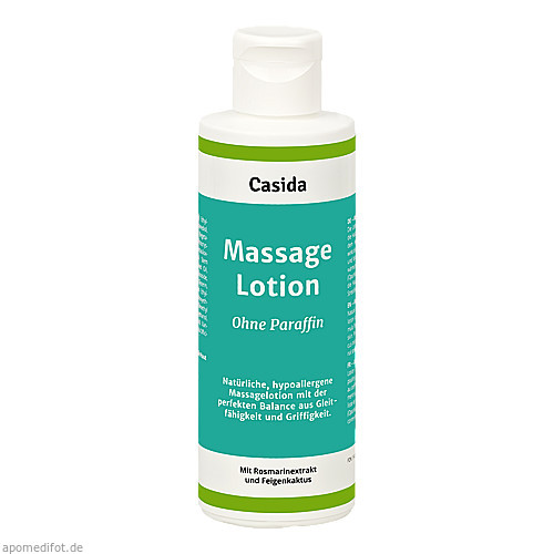 Massagelotion Natural ohne Paraffin, 200 ML, Casida GmbH & Co. KG