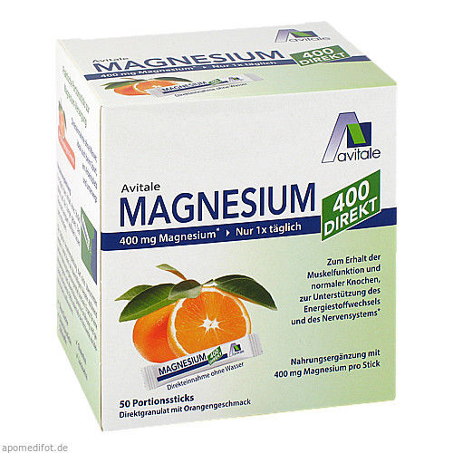 Magnesium 400 direkt Orange, 50X2.1 G, Avitale GmbH