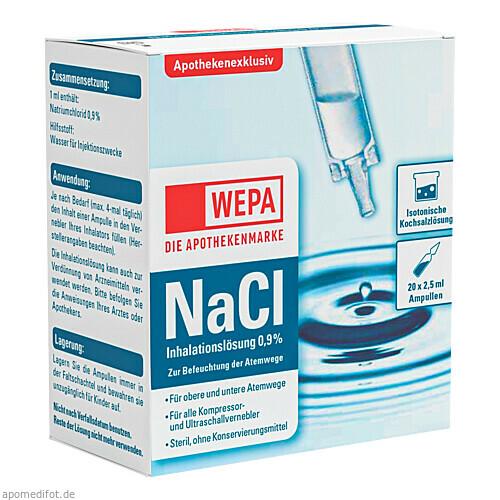 WEPA Inhalationslösung NaCl 0.9 %, 20X2.5 ML, Wepa Apothekenbedarf GmbH & Co. KG