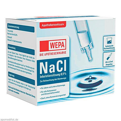 WEPA Inhalationslösung NaCl 0.9 %, 60X2.5 ML, WEPA Apothekenbedarf GmbH & Co KG