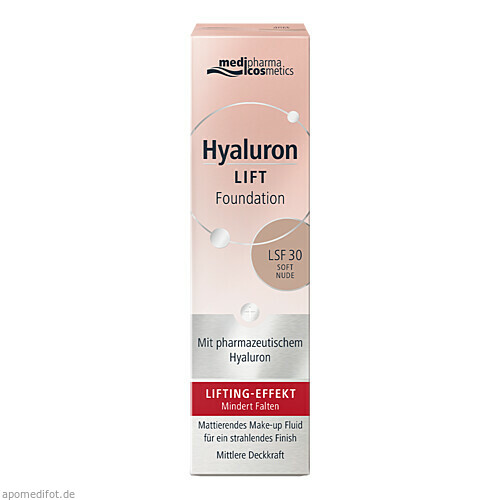 Hyaluron Lift Foundation Soft Nude, 30 ML, Dr. Theiss Naturwaren GmbH